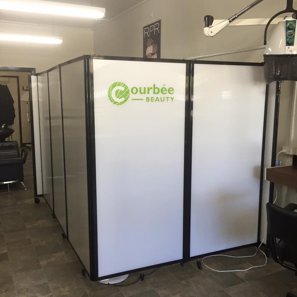Divider for creating a private salon area- portable partition