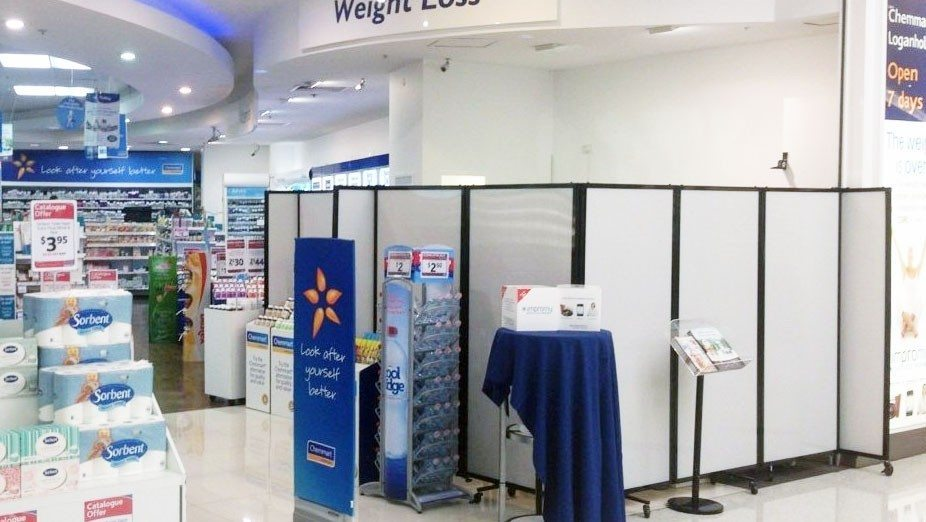 Wall Partitions in Departmental Store - Portable Partitions
