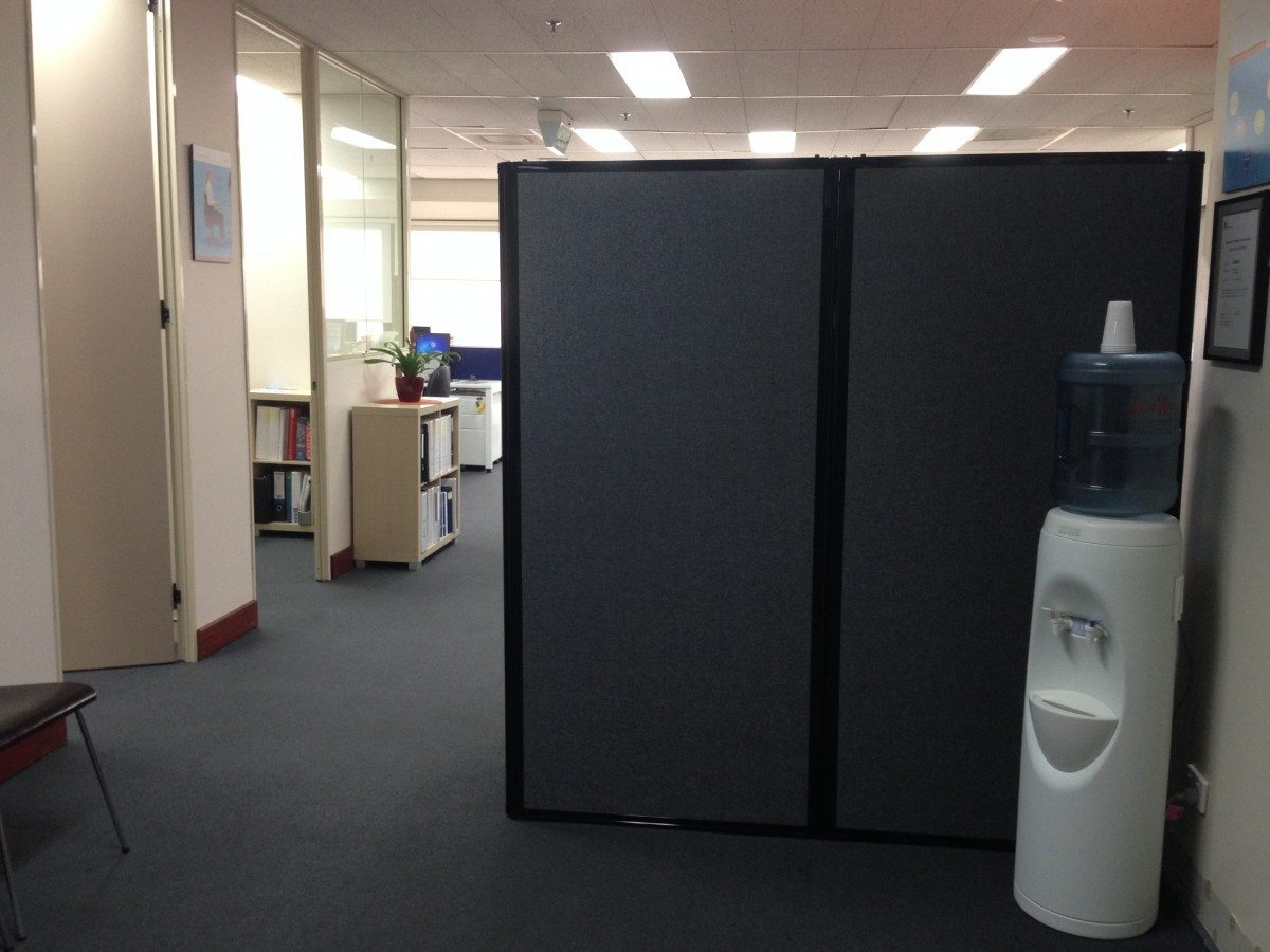 Charcol temporary wall for  office area- portable partition