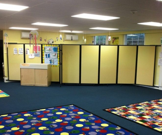Wall-Mounted Classroom Dividers for Schools - Portable Partitions