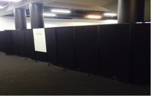 Black Screen Mobile Room Divider - Portable Partitions