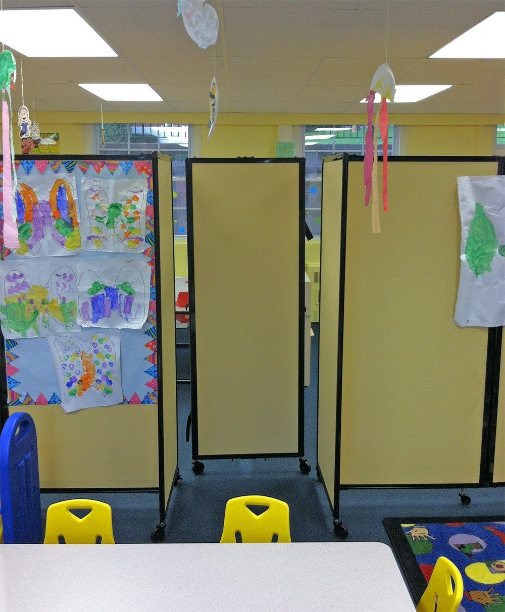mobile pin board room dividers for school- portable partition