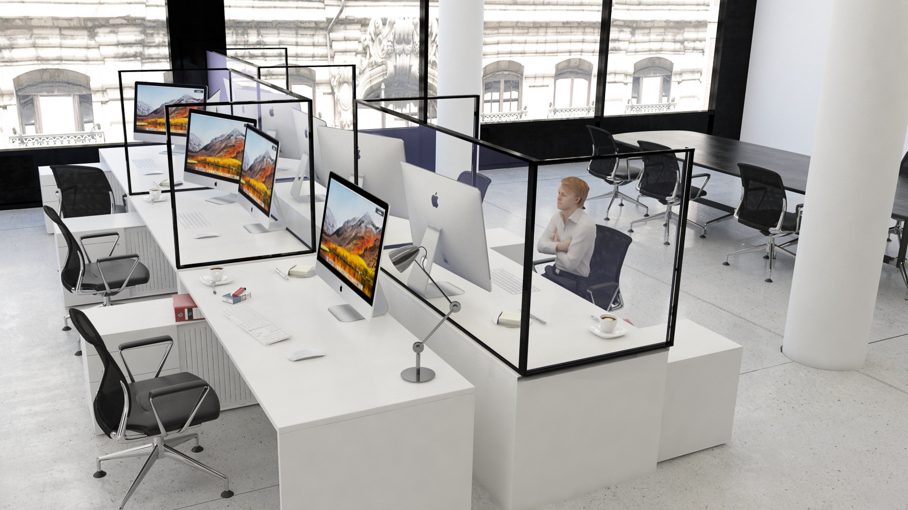 Office Desktop Protection Screens and Dividers