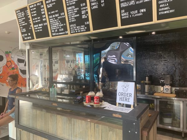 3 panel perspex screen straight line takeaway cafe fixed