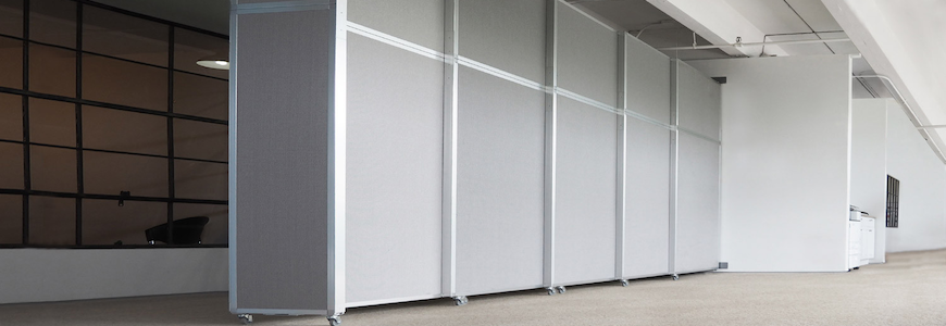 Operable Wall Sliding Gray - Portable Partitions