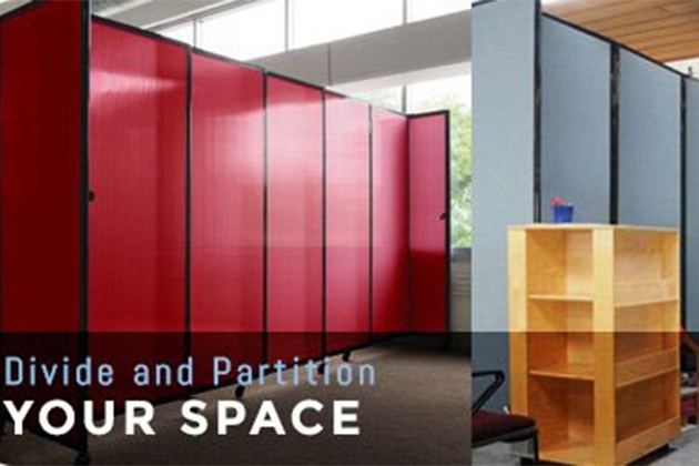 Divide and Partition Your Space_Open Office Space - Portable Partitions