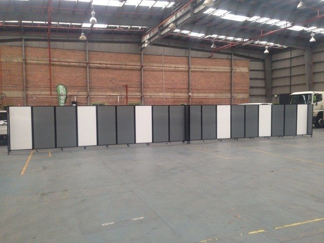 grey white movable polcarbonate walls for large space - Portable Partitions