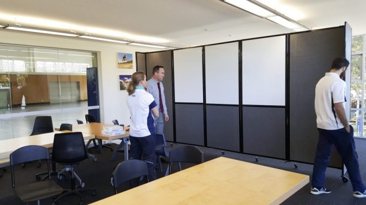 movable dividers with custom whiteboard for classroom system - Portable Partitions