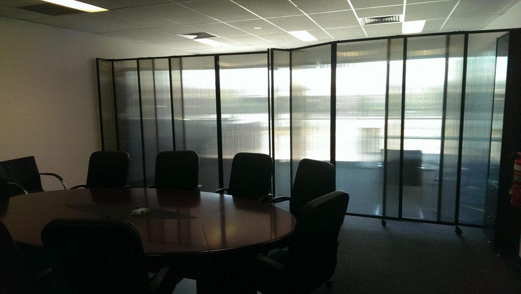 polycarbonate flexible wall for office meeting room - Portable Partitions