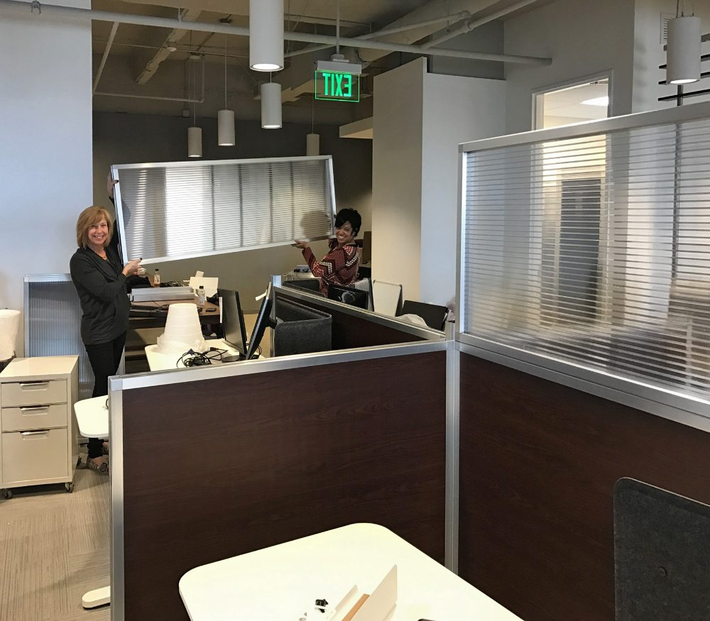 cubicle construction with small partition walls- portable partition