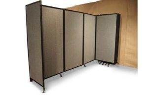 360 Acoustic Room Divider Wall Mountable (Fabric) - Portable Partitions