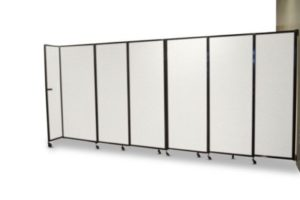 Straight Wall Acoustic Partition Wall Mountable Polycarbonate – 2 - Portable Partitions