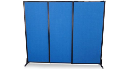 Afford-a-wall Sliding Mobile Room Divider (Fabric) - Portable Partitions