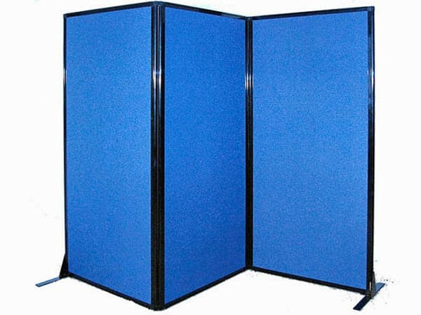 Afford-A-Wall Folding Mobile Room Divider (Fabric)