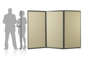 Freestanding Portable Privacy Screen (Fabric) - Portable Partitions