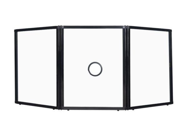 3 panel freestanding desktop temperature screen
