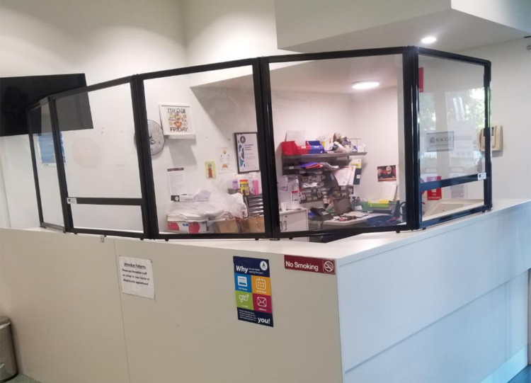 Health Protection Room Divider in Australia