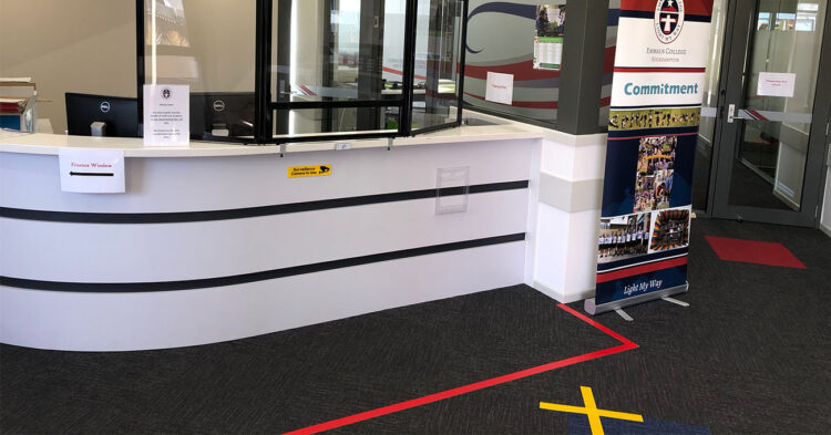 Rockhampton School Use Countertop Protection Screen to Ensure Staff Safety at Reception