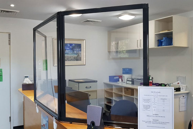 Queensland Medical Centre Protect Staff and Patients With Countertop Protection Screen - Portable Partitions Australia