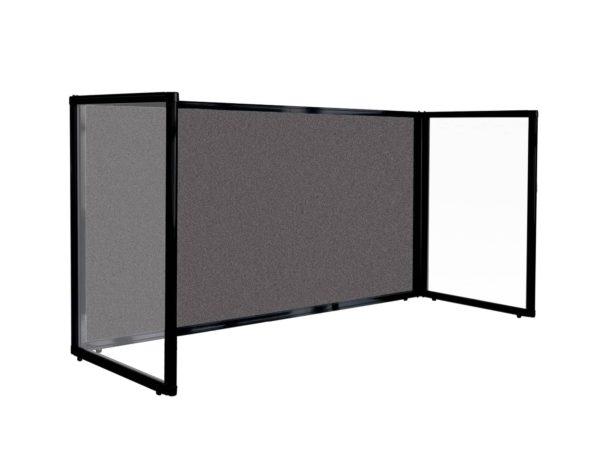 Charcoal Fabric Desktop Protections Screen 3 panel freestanding