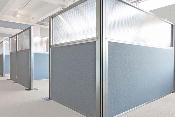 Four main ways to use office partitions to divide office space