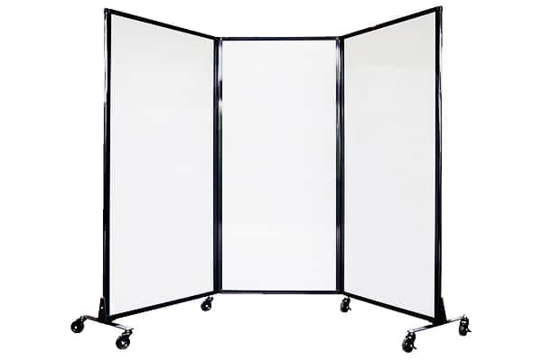 Mobile-folding-privacy-screen-white-polycarbonate