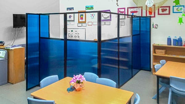 Use space saving classroom furniture to create special areas within the classroom.