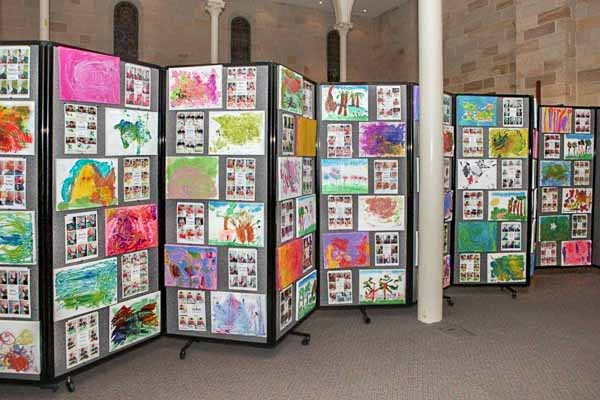 Create Portable Art Walls to display student artwork in your next event