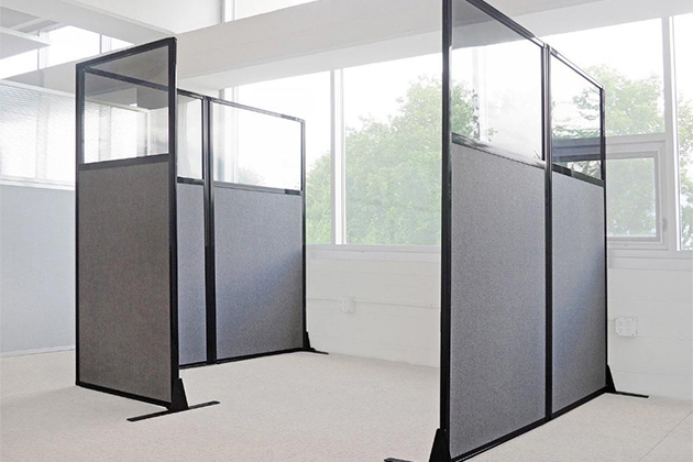 Privacy screens for office cubicles