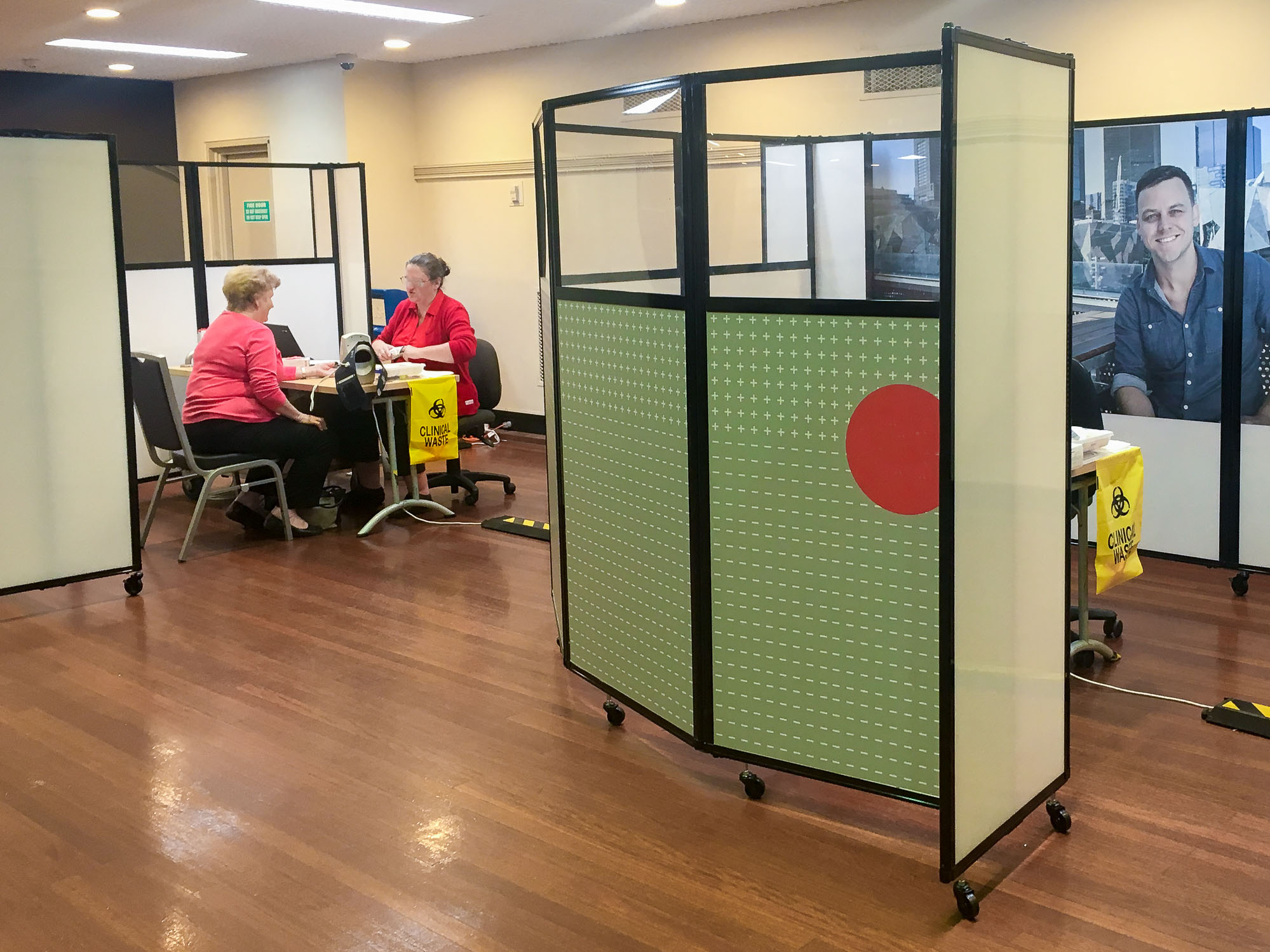 Create extra rooms when there's an influx of patients