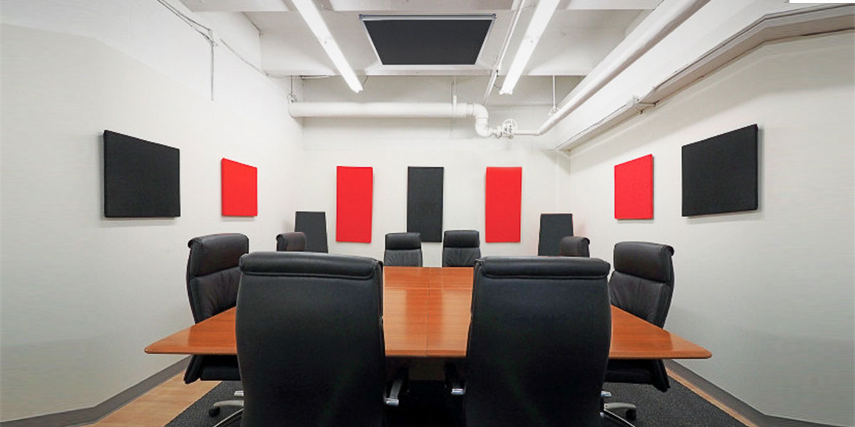 Install acoustic wall panels