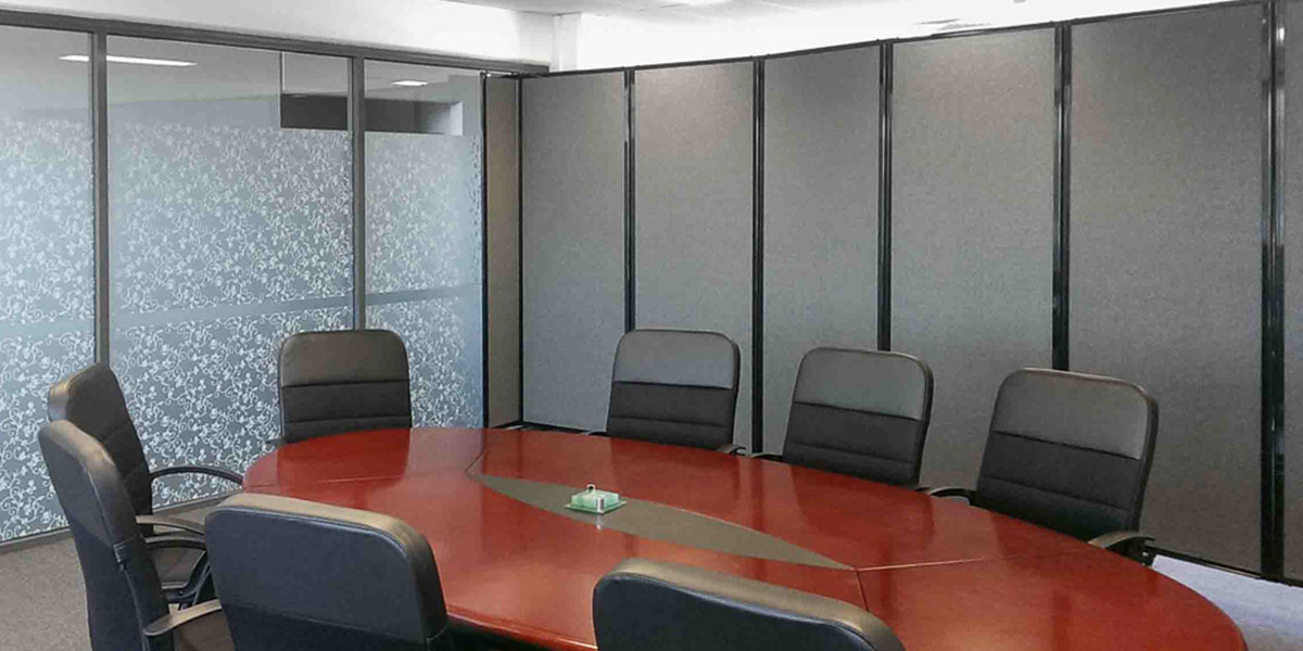 Install sound controlling office partitions