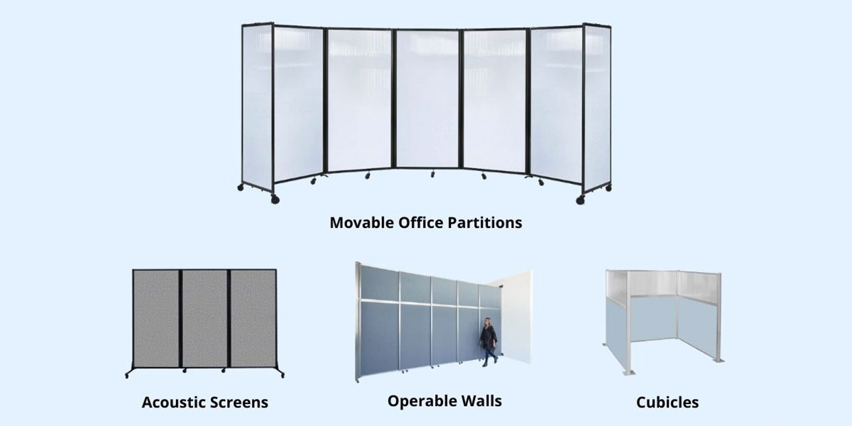 Types of office partitions