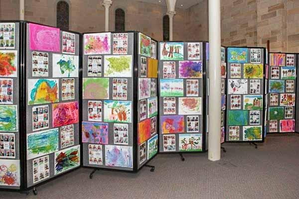 Transform classrooms into temporary art galleries