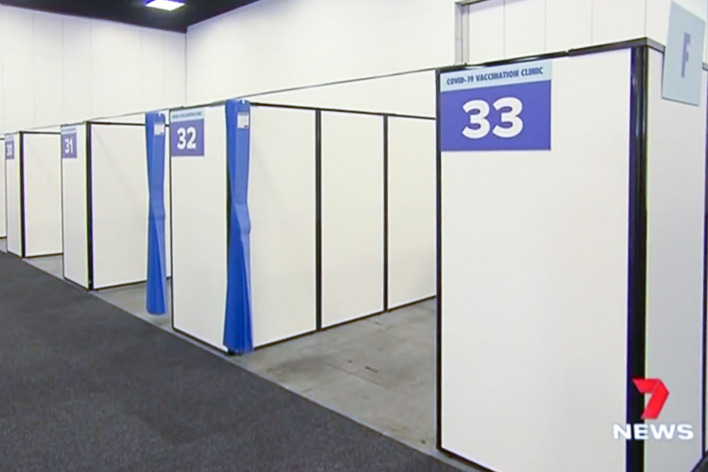 Set up vaccination booths