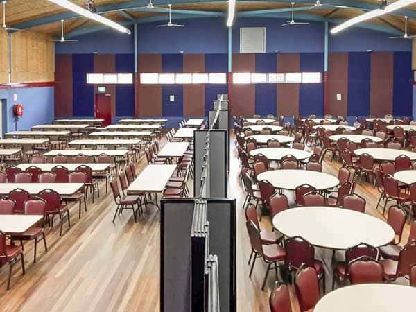 Hampton Park venue divided by Telescoping partitions